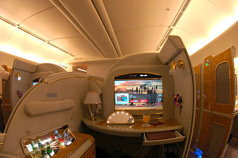 First Class Suite bei Emirates